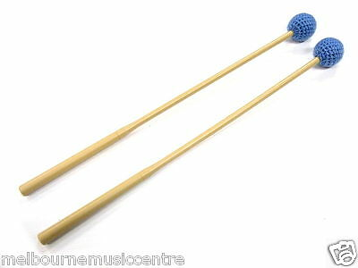 METALLOPHONE / XYLOPHONE BEATERS 36.5cm Long *3.1cm Soft Head Blue Yarn* NEW!