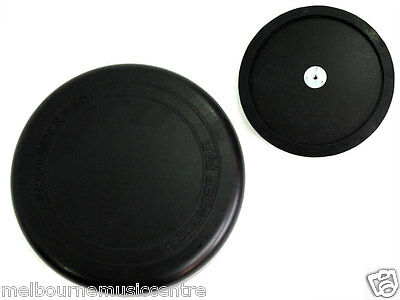"RUBBER 12"" DRUM PRACTICE PAD In Black *Natural Rebound* NEW!"