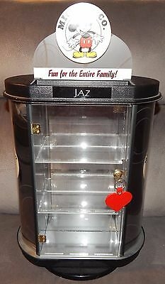 Walt Disney Mickey & Co Retail Store Jewelry Locking Display Case Cabinet Rare