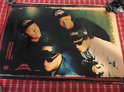 Vintage N.W.A 1991 Ruthless Records Poster Rap Size 22 X 31