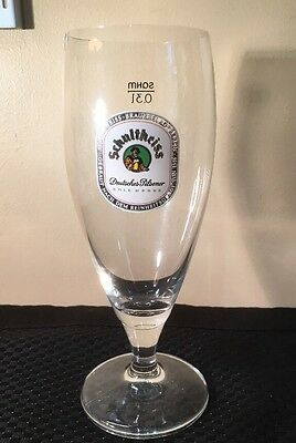Vintage Schultheiss German Beer Glass Glasses Barware Bar #A230
