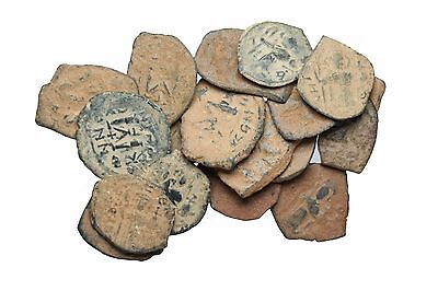 ARAB-BYZANTINE. Uncleaned Sand Patina Follis, various types, Price per coin