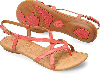 New Born Women's Mai Toe-post Sandal Red Leather 6