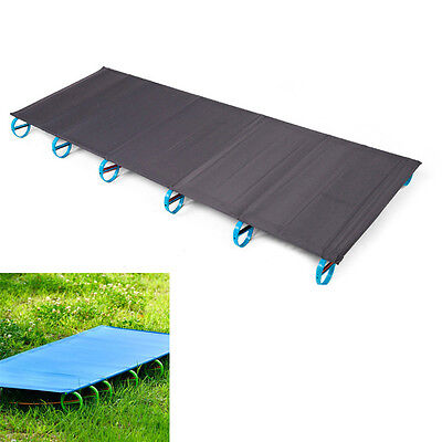 Foldable Aluminum Alloy Single Camp Bed Travel Cot Outdoor Camping 180*58*10cm