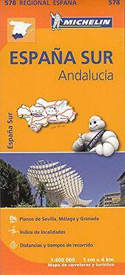 Andalucía Regional Map 578 (Michelin Regional Maps) by Michelin | Hardcover Book