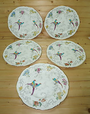 Coalport Royal Cauldon Marlborough (5) Dinner Plates, 10 3/4""