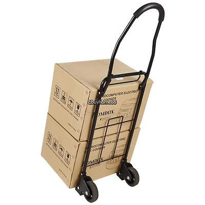 Folding Hand Truck Dolly Collapsible Trolley Luggage 2-Wheeled Moving Cart 110LB