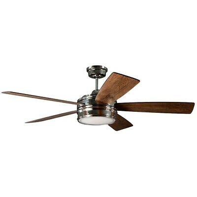 "Craftmade Braxton 52"" Ceiling Fan w/Blades, Polished Nickel, Dark Cedar/Mesquite"
