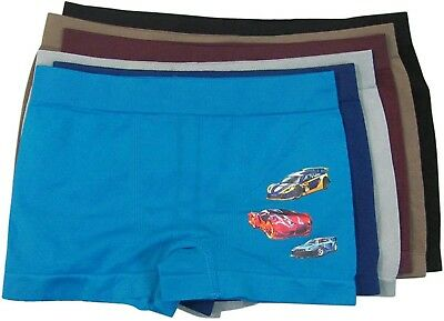 """ToBeInStyle Boy's Pack of 6 Seamless Boxer Briefs """"Race Cars"""""""
