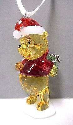Winnie The Pooh Christmas Ornament Disney Crystal 2014 Swarovski Xmas #5030561