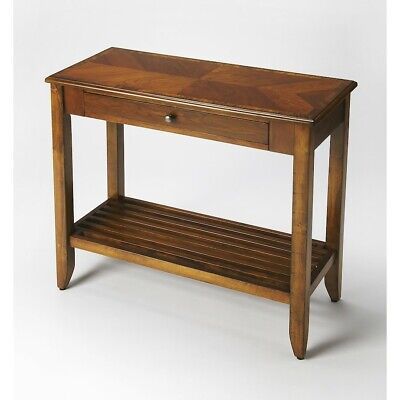Butler Irvine Olive Ash Burl Console Table, Medium Brown - 3039101