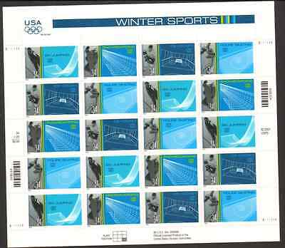 3552-5 Winter Sports Reverse Die Cut MNH Sheet