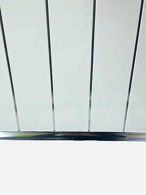 Gloss White Chrome Strip Bathroom Cladding Ceiling Panels PVC Shower Wet Wall