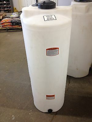 50 gallon vertical poly storage plastic tank, water harvest or chemical storage