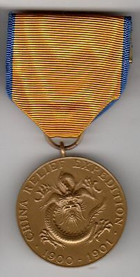 US Army China Relief Boxer Rebellion pre WWI 1900-01 Service Medal not numbered