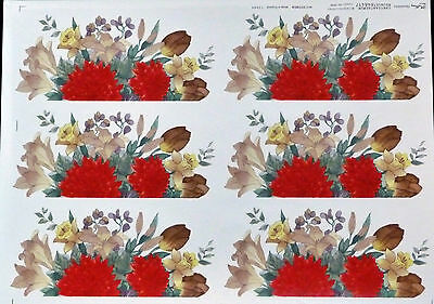 Ceramic Decals  Bouquet Chrysanthemun 200656  12345 Made In England Right Price