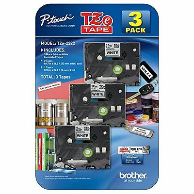 New Brother P-Touch - Label Tape Assorted Pack - (2) TZe231  (1) TZe221