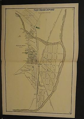 Pennsylvania Bedford County Map New Bridgeport 1877 Double Page !W9#78