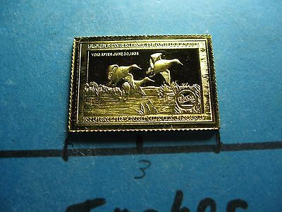 Canvasbacks Duck 1935-1936 Migratory Stamp Commemorative Mini Silver Gold Bar #B