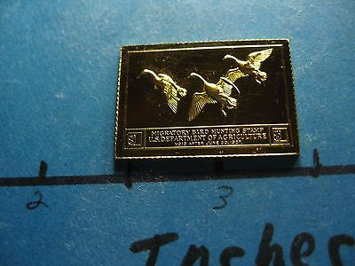 Canada Geese 1936-1937 Migratory Stamp Commemorative Mini Silver Gold Bar #b