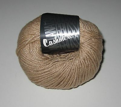 Lot of 10 ballls of BROWN Lana Grossa CASHMERE PLUS dk knitting yarn color #5