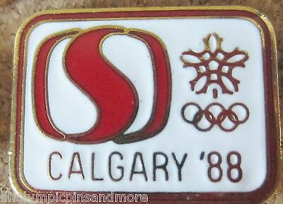 1988 Calgary Olympic Games Safeway sponser pin dated #2