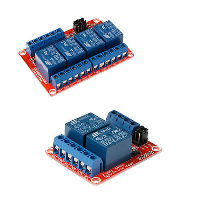 2/4Channel 12V Relay Module with Optocoupler Isolation Supports High Low Trigger