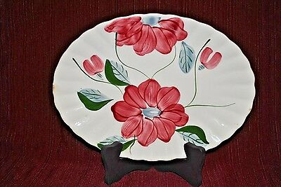 "Blue Ridge Southern Pottery - POINSETTIA 11.5"" OVAL SERVING DISH"