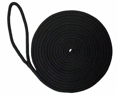 Mooring Rope - 12mm x 5 Mtr Double Braided Polyester Black
