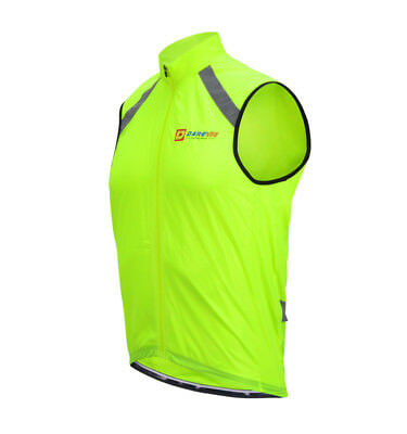 Wind Vest Gilet Mens Hi-Vis Packable Darevie DVJ044