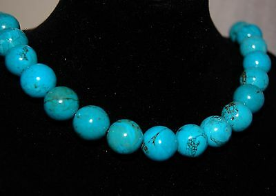 20 x13mm fine polished round Turquoise beads