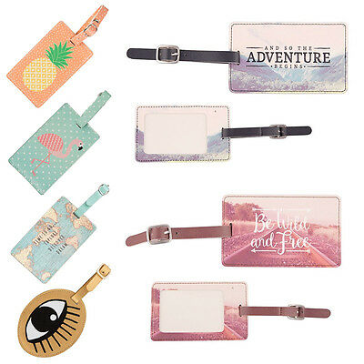 Cute Printing Passport Cover Luggage Tag Suitcase Label Address ID Holiday Tags