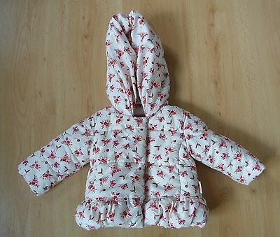 Ted Baker Baby Girls Coat Jacket Age 6 9 months Pink Floral Padded