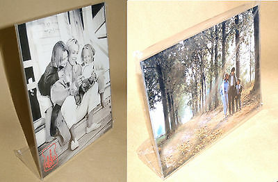 Picture Frame Table Acrylic Horizontal O Vertical Various Sizes New