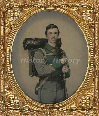 CIVIL WAR PHOTOGRAPH Unidentified soldier in Confederate uniform