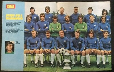 *1971* STUNNING A3 Football TEAM picture poster CHELSEA with FA CUP Won in 1970