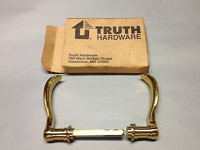 Vintage Brass Nos. Truth Hardware French Door Handle Pull Parts