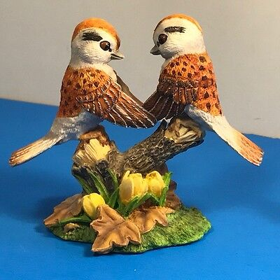 Hamilton Collection Bird Figurine Garden Romances Forever Falling Love Sparrow