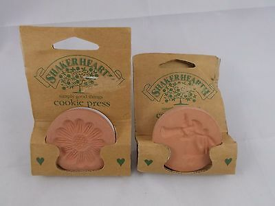 "Wilton Shaker Hearth 2"" Cookie Press Stamps Lot of 2 1996"