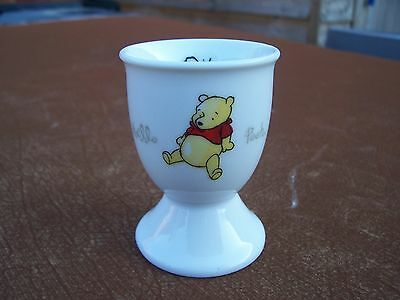 From Disney White Ceramic Winnie The Pooh Egg Cup