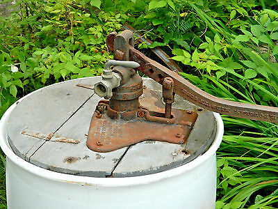 Vintage Well-Barrel Cast Iron Hand Water Pump~Frost Insecticide Co Arlington MA