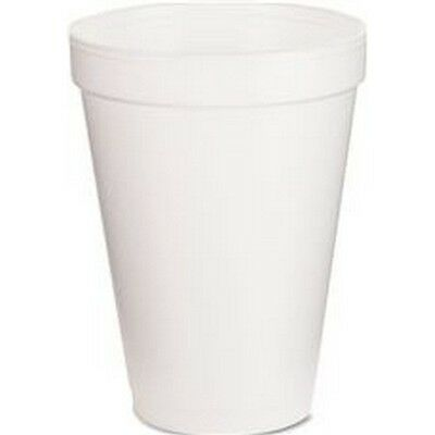 Renown 2475866 Styrofoam Drink Cups, White, 12 Oz., 1,000 Per Case NEW