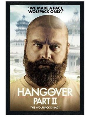 The Hangover Part II Black Wooden Framed Wolfpack Only Maxi Poster 61x91.5cm