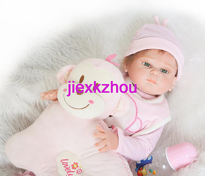 Lovely 20in. 50cm Sleep Reborn Baby Girl Doll Soft Silicone
