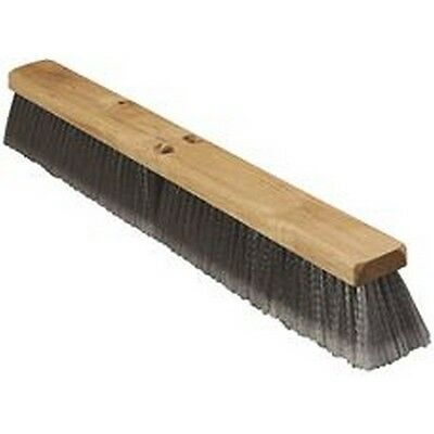 "Renown REN03979 Broom Fine Sweep 24"" Flagged Polypropylene With 3"" Trim Grey NEW"