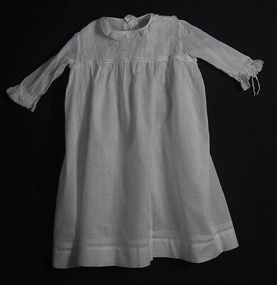 Vintage Antique Edwardian White Baby Doll Christening Gown (502)