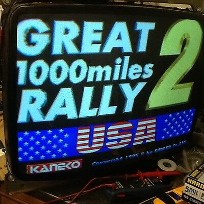Kaneka Great 1000 Mile Rally 2 video arcade logic/pcb board, working  NO RESERVE