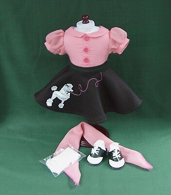 GOING FAST! 1950s POODLE SKIRT OUTFIT w SADDLE SHOES for AMERICAN GIRL MARYELLEN
