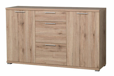 sideboard kommode san remo eiche dunkel schiefer grau neu 26269 eur 399 00 picclick de. Black Bedroom Furniture Sets. Home Design Ideas