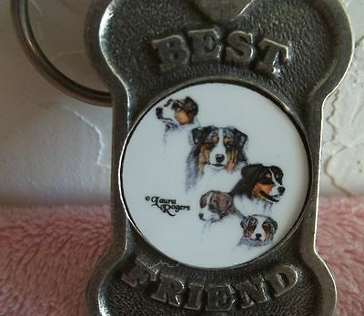 "Bernese Mountain Dog Metal Key Chain "" Best Friend"" Made In Usa""  Free Shipping"
